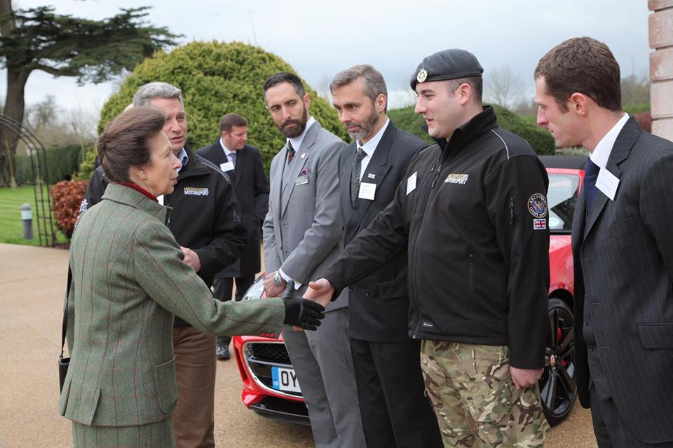 Princess Anne visited Tedworth House