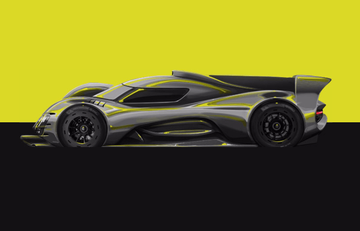 webheads bykolles hypercar image of grey sportscar atop a lime green and grey background